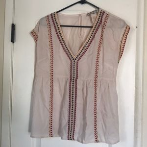 Sheer Tunic with Colorful Embroidery